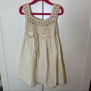 NWOT Girl's Linen Cotton Gauze Mexican Tank Dress